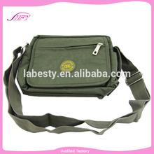 wholesale custom canvas travel shoulder bag for men
