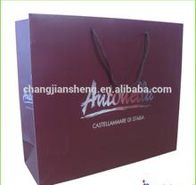 wholesale luxury paper shopping bag&folded shopping paper bag&custom printed paper bag with Top quality