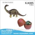 3d puzzles/rompecabezas venta al por mayor de juguetes de los animales no- tóxico de plástico modelo de dinosaurio