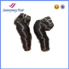 2015 Sunnymay New Products Huamn Hair Bundle in Stock 100g/piece 100% Brazilian Virgin Hair Spring Curly Hair Weaving