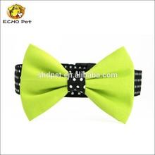 Bow Tie Dog Collar, Polka Dot Dog Collar Bow tie Set Swiss Dots Black and Lime