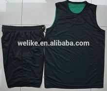 Reversible black color 2014 latest basketball jersey design for men