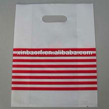 LDPE HDPE plastic print die cut bags