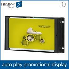 Flintstone 10 inch advertising video counter display, customized LCD display, Digital LCD screen