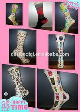 digital print classic cotton scottish tube sock made in china