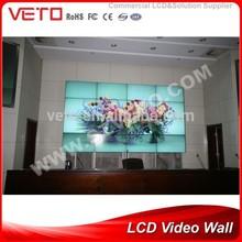 "55"" LG IPS 5.3mm ultra narrow bezel 4*4 LCD Video Wall"