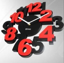 plastic 3D number clock
