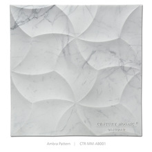 Imported Italian Carrara Marble Ambra 3D Wall Tiles
