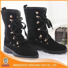 genuine sheepskin lining women warm casual boots