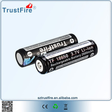 TrustFire 18650-3000mah battery Lithium Ion 18650 rechargeable battery with tab