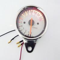 Motorcycle Bike Universal Speedometer +13000RPM Tachometer Gauge