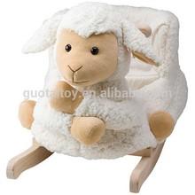 High quality plush baby rocker rocking lamb