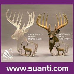 Crystal high quality christmas decorations rattan deer