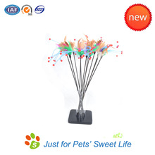 2015 HOT New Colorful Sorted Pet Products Cat Toys Cat Feather Wand