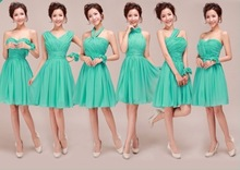 Customized Size Color Fluorescent green Bridesmaid Dresses group Different styles popular 2014 new arrival 02