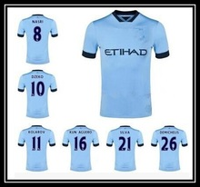 Top thailand quality 2014 2015 Manchester City soccer jersey customize wholesale