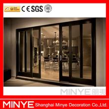 2015 used commercial glass doors/modern wooden doors design/elegant looking inner blinds design doors