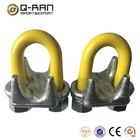 US Type Forged Yellow U Bolt Rope Clamp