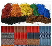 Color chemical iron oxide pigment red for asphalt/tile/brick