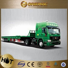Howo dump Triple axle flat bed truck trailer stainless steel or sale , truck trailer used for sale germany