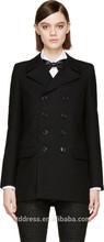 2014 Top Quality 100% cotton black ladies office uniform design