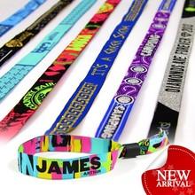 custom creative festival items fabric wristband sports events promotion