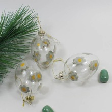 unique popular decorative glass easter egg ornament