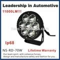 2014 nueva llegada de la alta calidad garantía de por vida 70w 12v trabajo de luz led para el coche, camiones, tractor, trailor