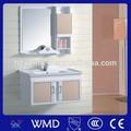 2014 impermeável pvc armário de banheiro móveis armário espelhado