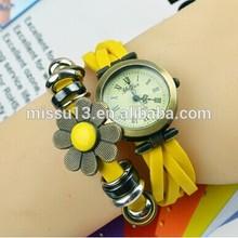 best selling 2014 fashion top watch brand fashion beautiful flower female wrist watch