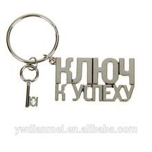 2015 hot sale Silver pendant, stylish The key to success Keychain wholesale