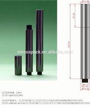 2.8ml glossy gold empty click mechanism cosmetic lip gloss pen