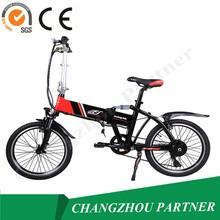 Design based on human al alloy lithium battery operated mini folding electric bike