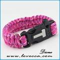 550l corda do pára-quedas tag de cão personalizado paracord pulseira exército kit de sobrevivência