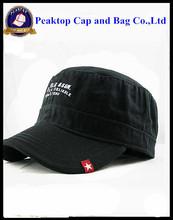 Screen Printing Vans & Flat Embroidery Baseball Cap with metal closure & embroidering logo