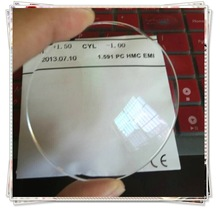 1.59 optical lens polycarbonate hydrophobic coated (CE and FDA)