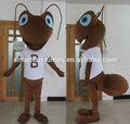 eva material de la felpa traje de la mascota de la cabeza con ventilador de refrigeración para adultos traje de hormiga
