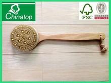 baby bottle brush natural wooden massage hair brush