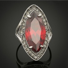 Fashion Diamond Big Ruby Ring(SWTAA97)