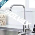 Stainless steel spout brass valve kitchen sink tap