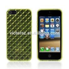 Fashional Diamond grain TPU Gel Case for iPhone 5C PU Case