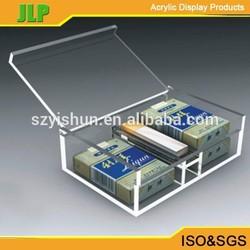 JLP acrylic cigarette box with lid,plastic cigarette box