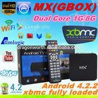 MX2 Amlogic 8726 MX TV BOX dual core MX smart box G-box XBMC full loaded add ons