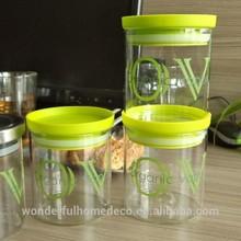 Food safe glass herbs jar