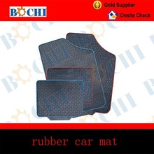 rubber car mat or rugs with 4 pieces per set