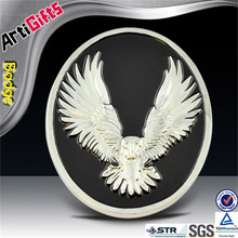 Wholesale soft casting eagle metal emblem