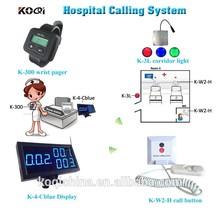 Infirmière appel des systèmes d'éclairage pour l'hôpital clinique couloir lumière poignet pager moniteur
