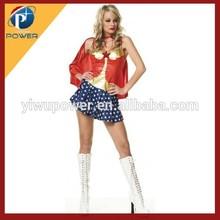 Yiwu Cheap Halloween Fancy Dress, Super Girl Sexy Costume For Women