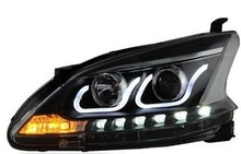 Best selling!! plug and play ce&rohs car parts 12v Nissan Sylphy head lamp