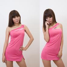 Fashion One Shoulder Sexy Plus Size Dress Women L17183